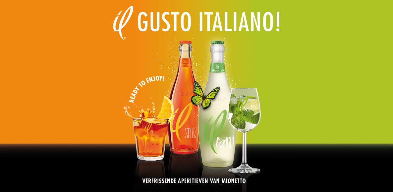 2 charmante aperitieven van Mionetto met een lichte bubbel – il SPR!Z und il UGO!